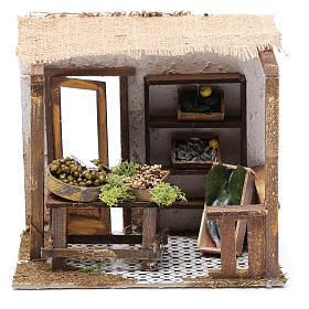 Casas, ambientaciones y tiendas: Pescadería con mostrador 15x20x15 cm para belén