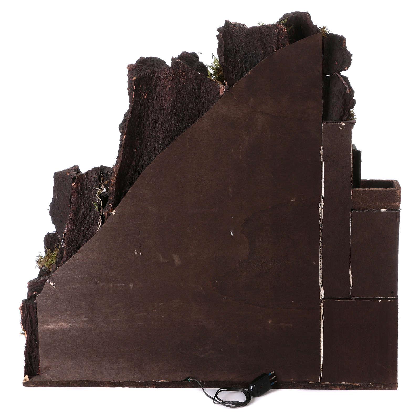 Aldea belén napolitano con molino 78x70x50 cm 4