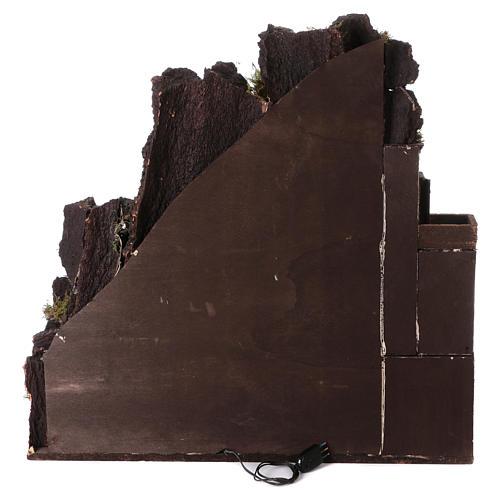 Aldea belén napolitano con molino 78x70x50 cm 8
