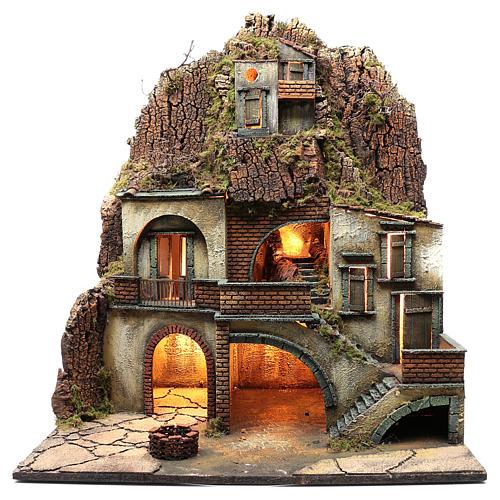 Borgo presepe napoletano con pozzo 80X70X50 cm | vendita online su
