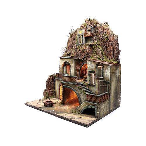 Borgo presepe napoletano con pozzo 80X70X50 cm 2