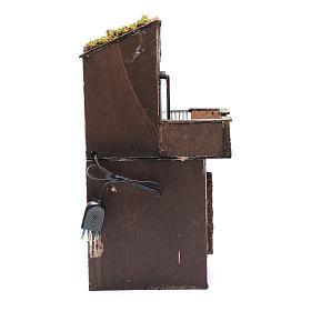 Casa in legno per presepe napoletano 41X22X20 cm s4