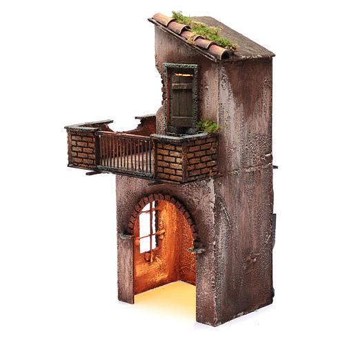 Casa in legno per presepe napoletano 41X22X20 cm 2