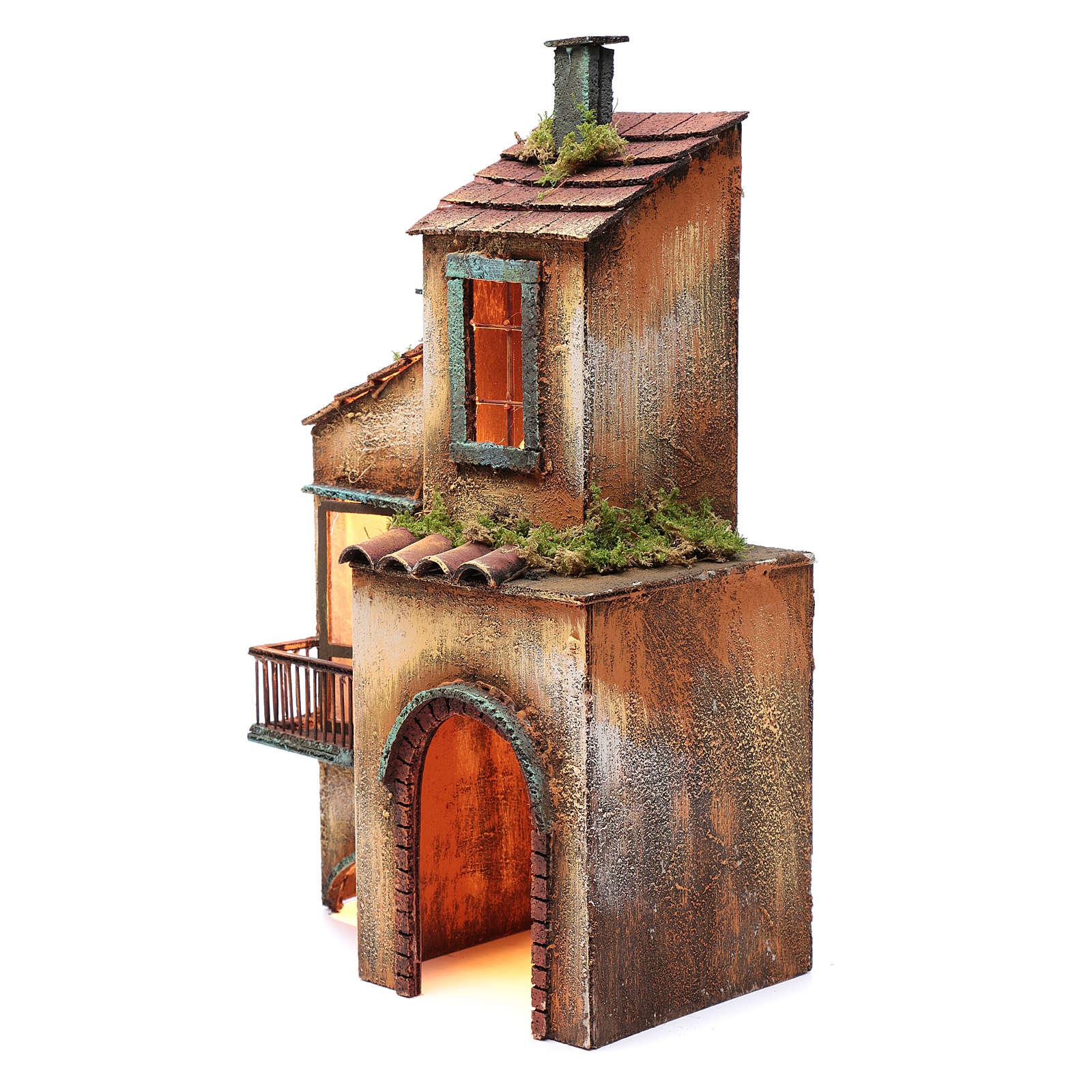 Casa de madera para belén napolitano 41x25x16 cm 4