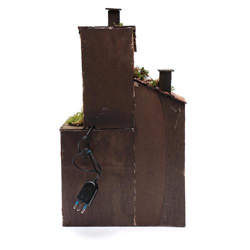 Casa in legno per presepe napoletano 41X25X16 cm 4