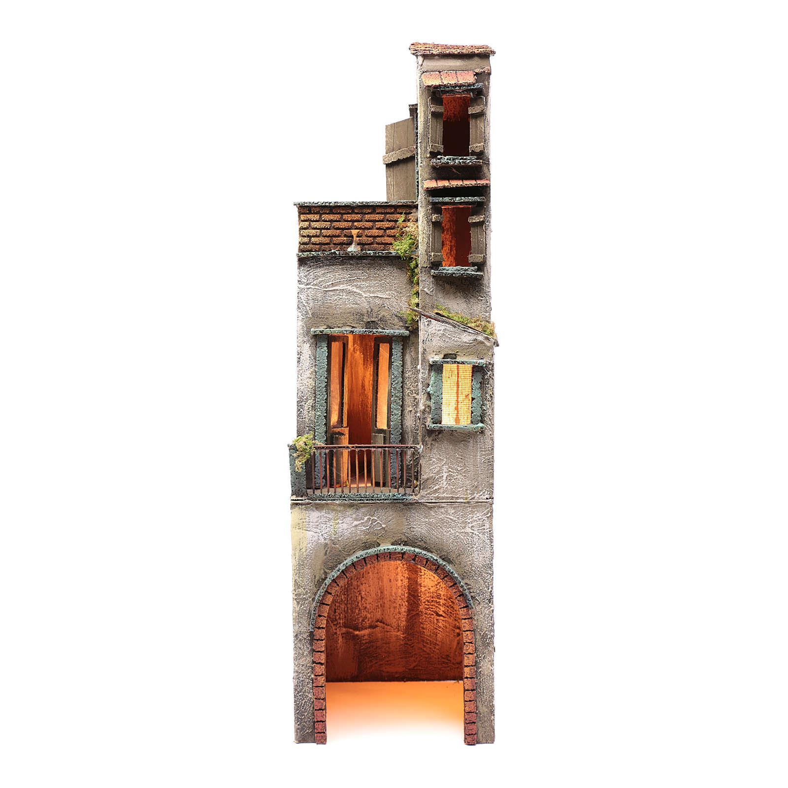 Casa in legno per presepe napoletano 73X20X21 cm 4