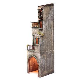 Casa in legno per presepe napoletano 73X20X21 cm s2