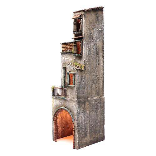 Casa in legno per presepe napoletano 73X20X21 cm 2