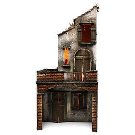 Presépio Napolitano: Casa de madeira para presépio napolitano 63x30x27 cm