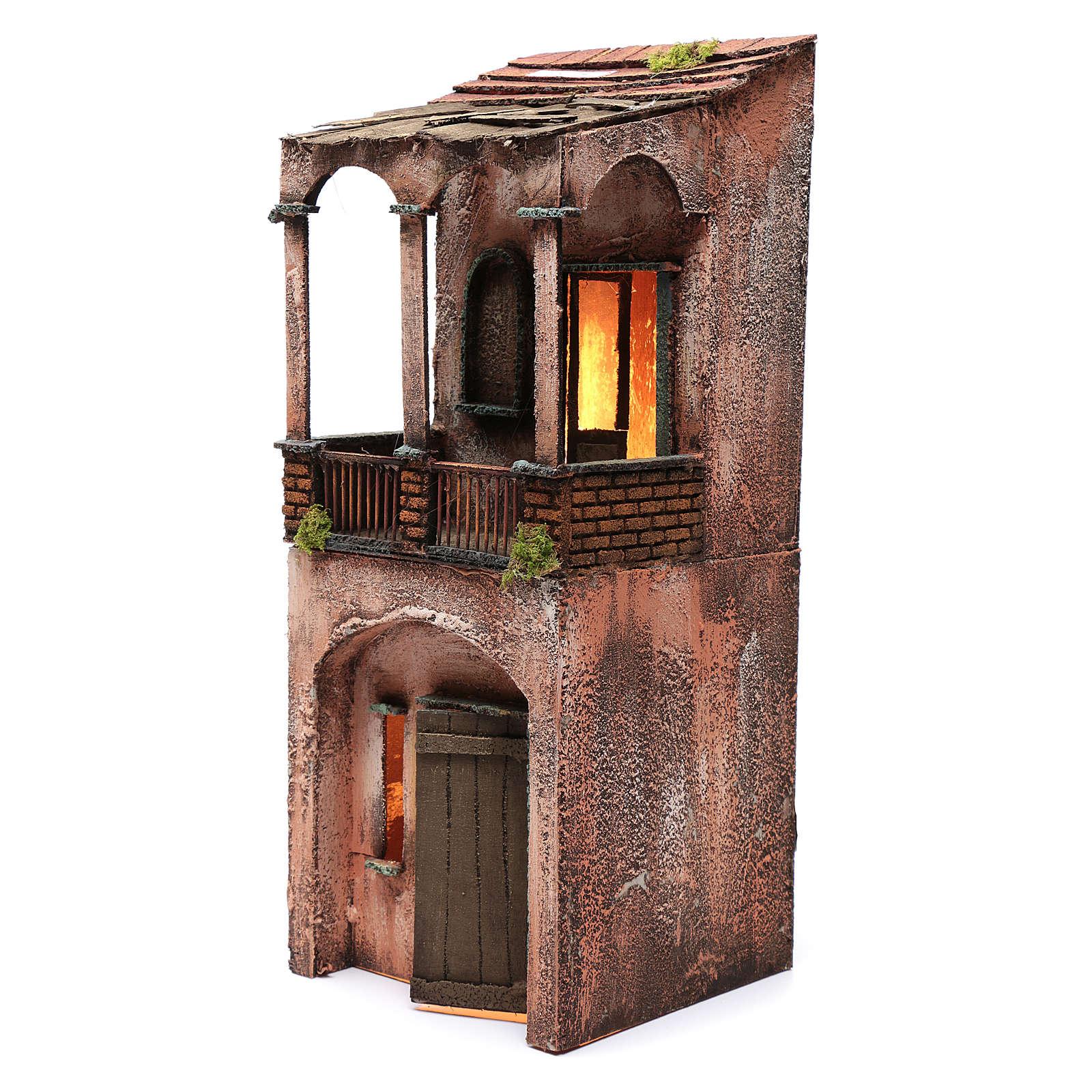 Casa de madera para belén napolitano 53x20x21 cm 4