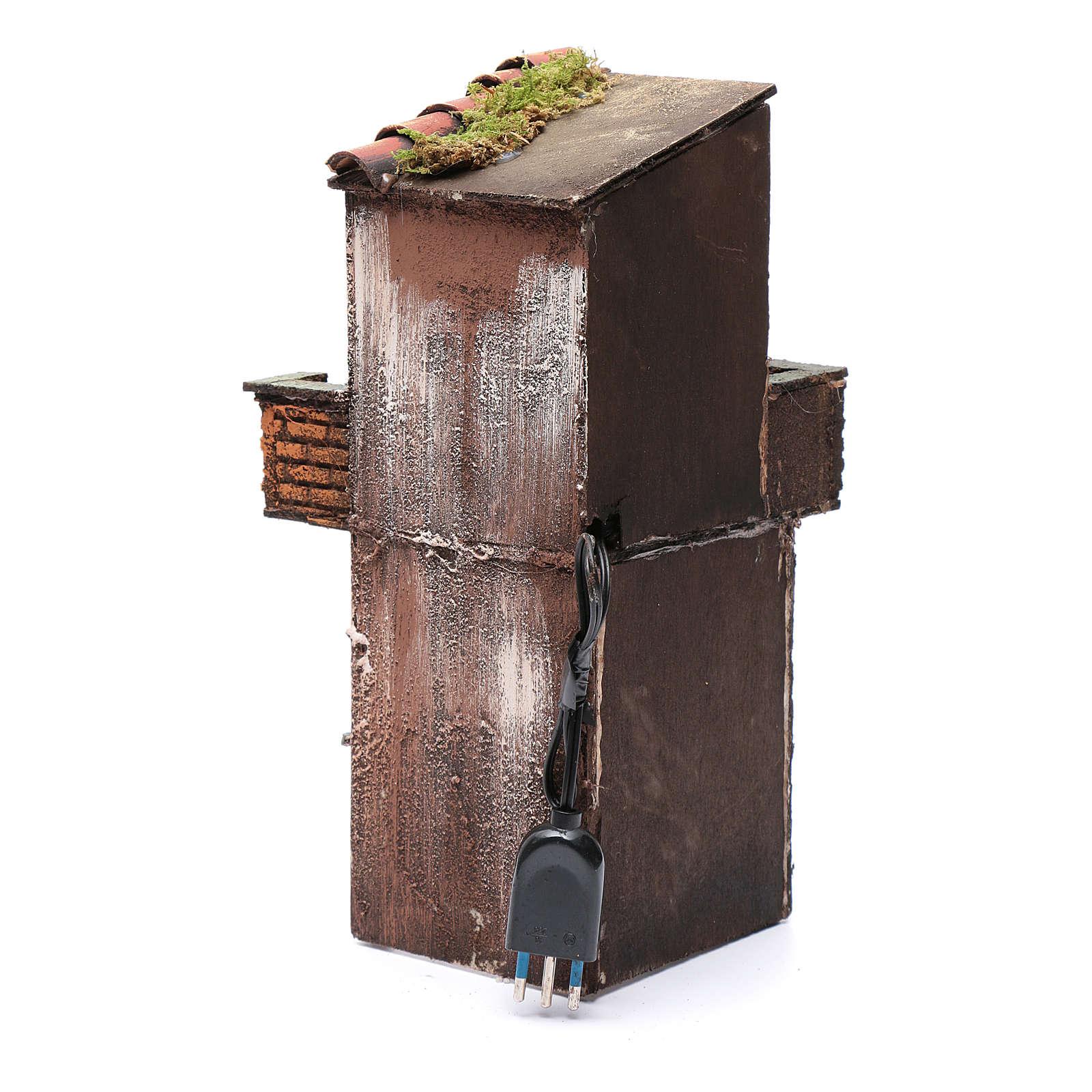 Casa in legno per presepe napoletano 38X15X16 cm 4
