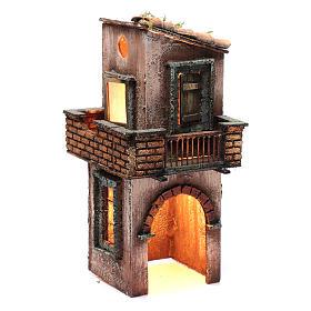 Casa in legno per presepe napoletano 38X15X16 cm s3