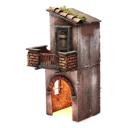Casa in legno per presepe napoletano 38X15X16 cm 2