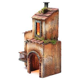 Casa in legno per presepe napoletano 34X21X12 cm s2
