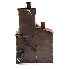Casa in legno per presepe napoletano 34X21X12 cm s4