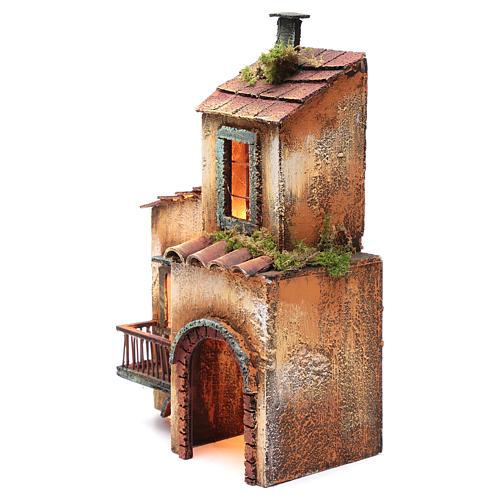 Casa in legno per presepe napoletano 34X21X12 cm 2