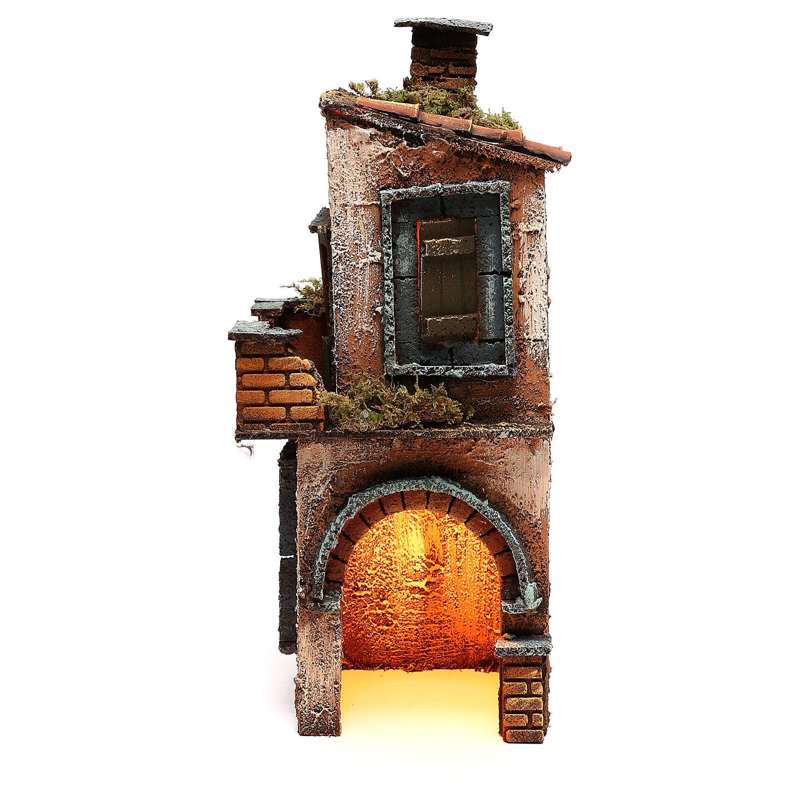 Wooden house for Neapolitan nativity scene 27X12X13 cm 4