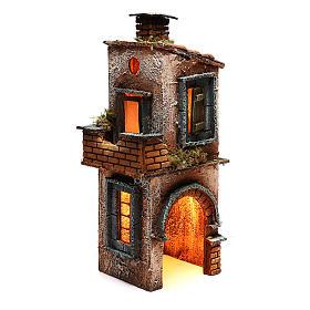 Wooden house for Neapolitan nativity scene 27X12X13 cm s3