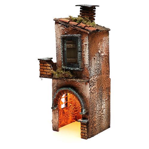 Wooden house for Neapolitan nativity scene 27X12X13 cm 2