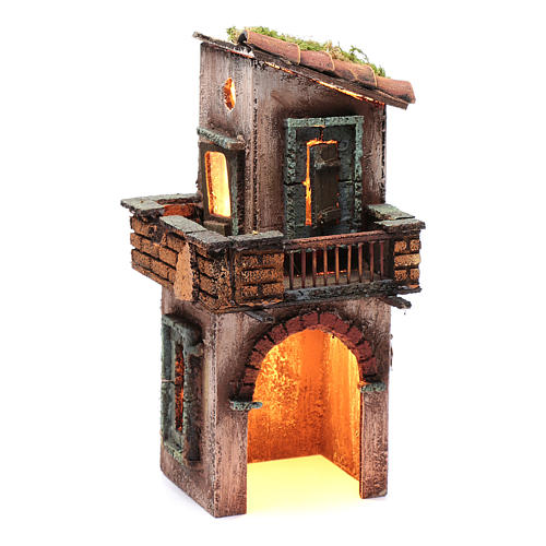 Wooden house for Neapolitan nativity scene 27X12X13 cm 3