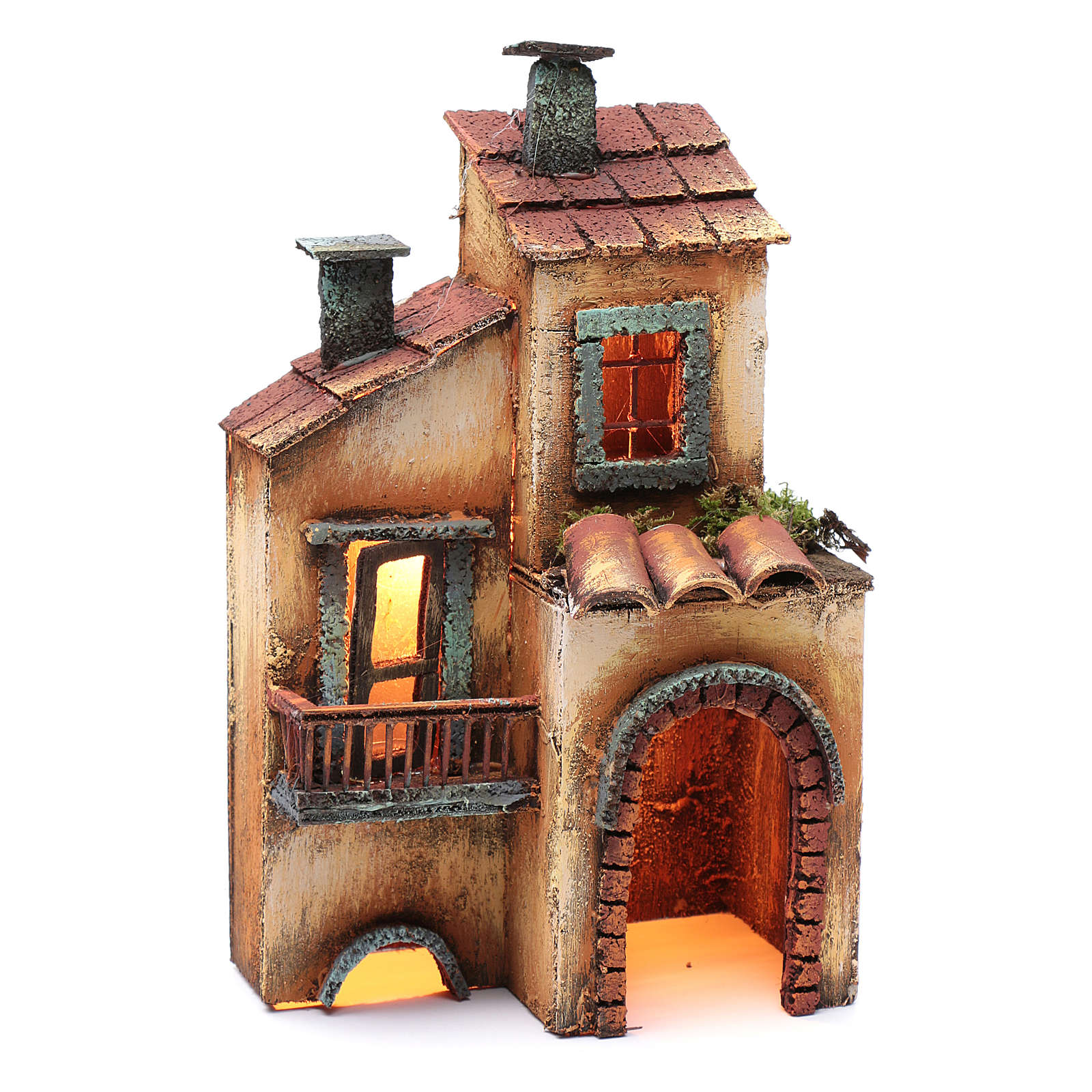 Casa in legno 28X17X11 presepe napoletano 4
