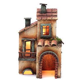 Casa in legno 28X17X11 presepe napoletano s1