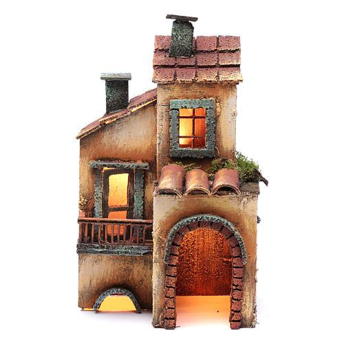 Casa in legno 28X17X11 presepe napoletano 1