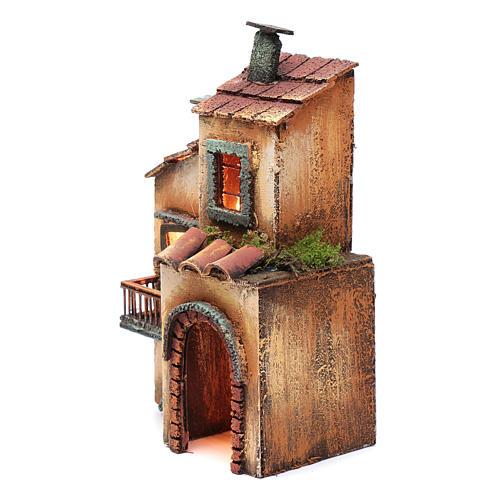 Casa in legno 28X17X11 presepe napoletano 2