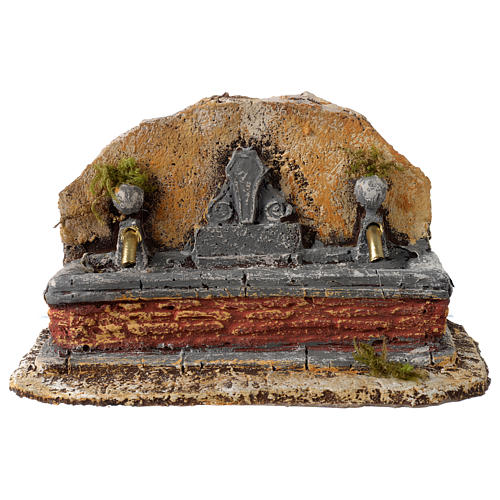 Nativity scene fountain in resin with two water jets 13x21x14 cm 1