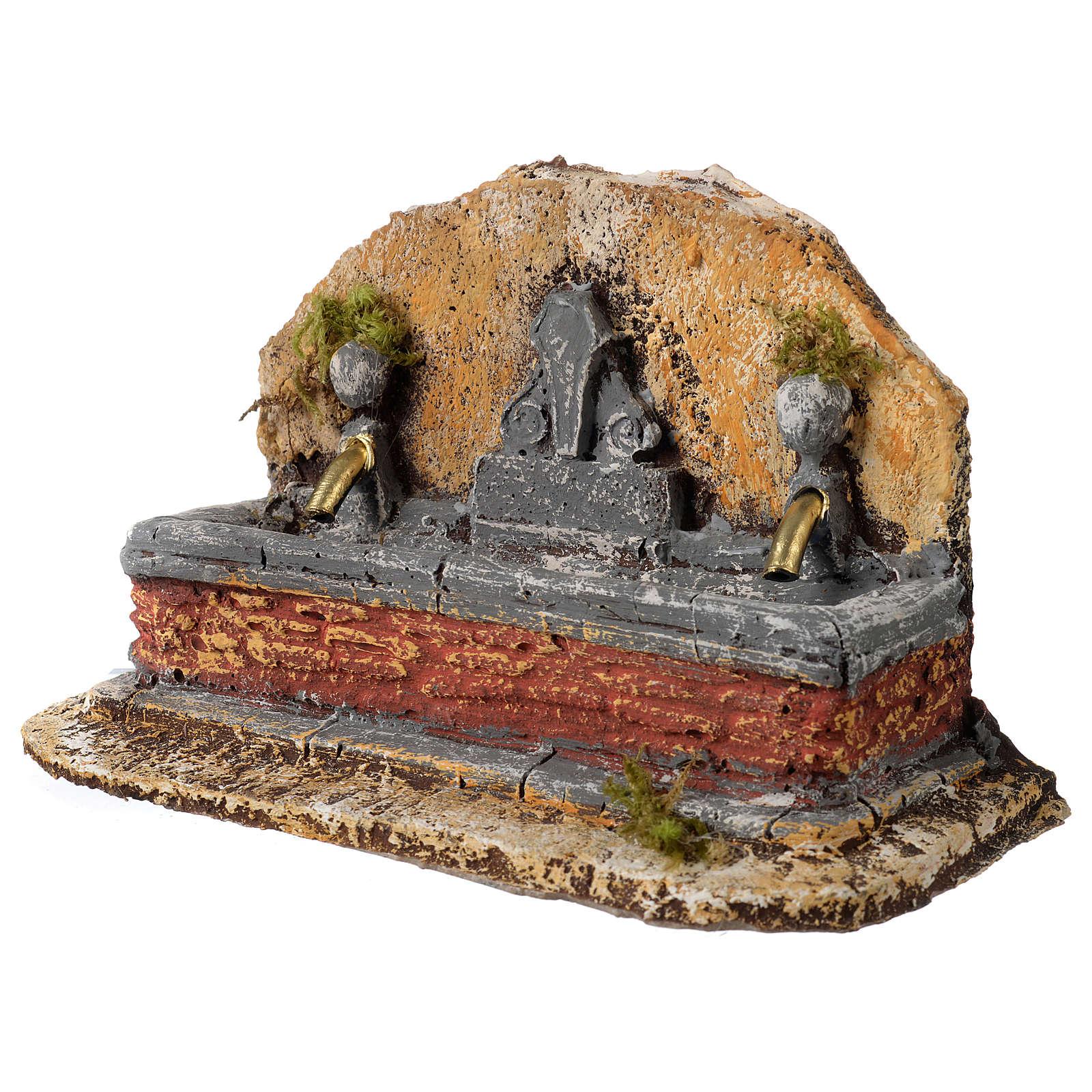 Fontana resina due getti presepe 13x21x14 cm 4
