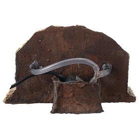 Fontana resina due getti presepe 13x21x14 cm s4