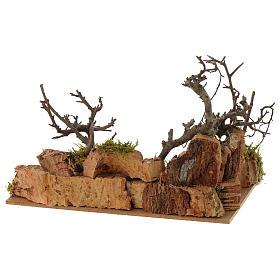 Escena paisaje con gallo 10x20x15 cm s3