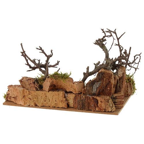 Escena paisaje con gallo 10x20x15 cm 3