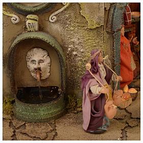 Aldea belén Nápoles mód. A 120x100x100 cm fuente taberna 26 pastores 2 mov - 14 cm s9