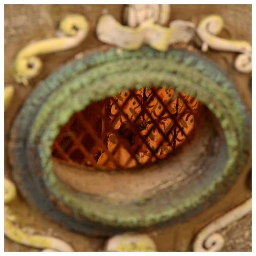 Borgo presepe Napoli mod. A 120X100X100 cm fontana osteria 26 pastori 2 mov - 14 cm 10
