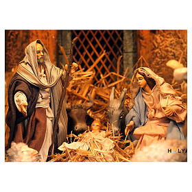 Village setting for Neapolitan Nativity scene 120x100x100 cm, module B, 34 shepherds, 7 movements - 14 cm s4