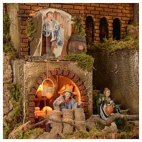 Village setting for Neapolitan Nativity scene 120x100x100 cm, module C, 34 shepherds, 9 movements - 14 cm s2