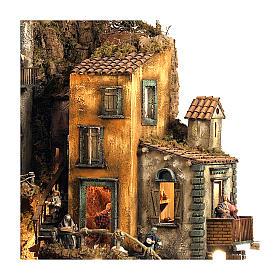 Borgo presepe Napoli mod. D 120X100X100 cm fontana 25 pastori 3 mov - 14 cm s4