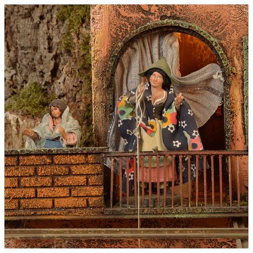 Borgo presepe Napoli mod. D 120X100X100 cm fontana 25 pastori 3 mov - 14 cm 7