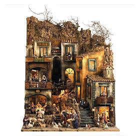 Burgo presépio Nápoles parte D 120x100x100 cm fontanário 25 peças 3 movimentos s1