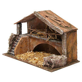 Hut with stairs for 12 cm nativity scene s2