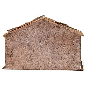 Hut with stairs for 12 cm nativity scene s4