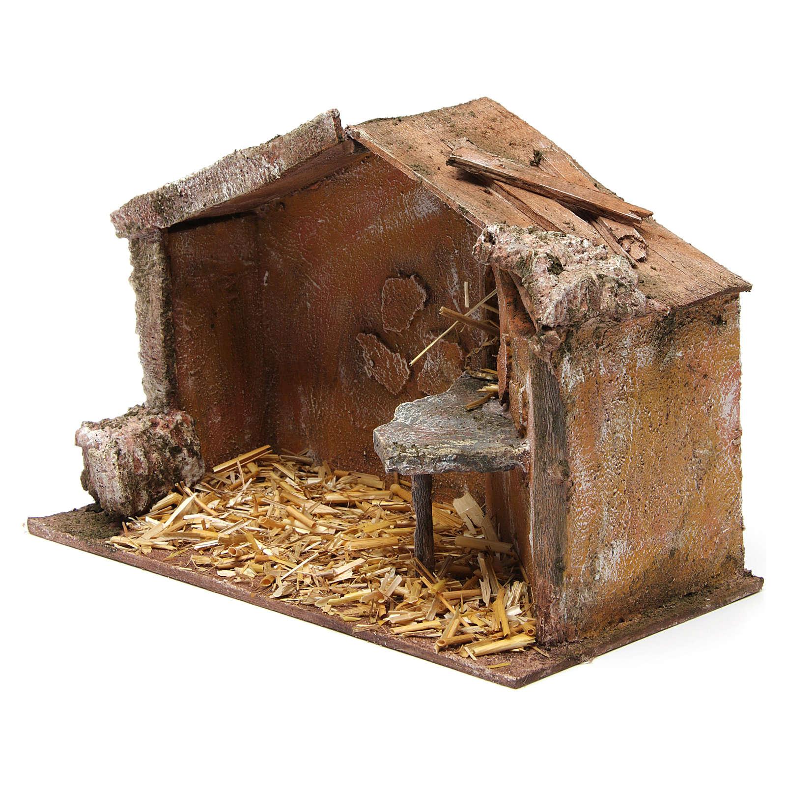 Hut for nativity 10cm 30X15X20 cm 4