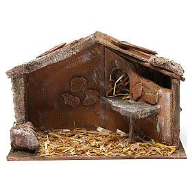 Hut for nativity 10cm 30X15X20 cm s1