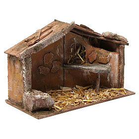 Hut for nativity 10cm 30X15X20 cm s3