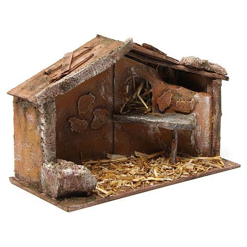 Hut for nativity 10cm 30X15X20 cm 3