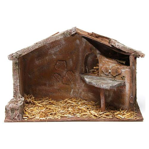 Cabane pour crèche 12 cm 35x18x24 cm 1