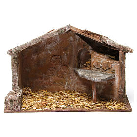 Shed for nativity 12cm 35x18x24 cm s1