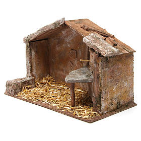 Shed for nativity 12cm 35x18x24 cm s2