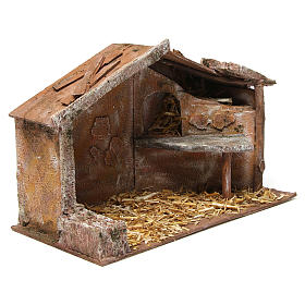 Shed for nativity 12cm 35x18x24 cm s3